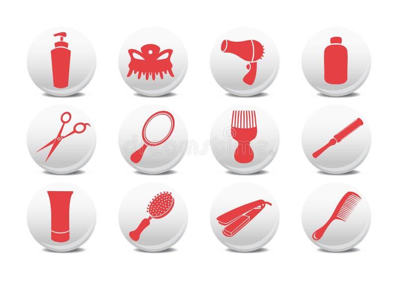 Botones del salón de la peluquería libre illustration