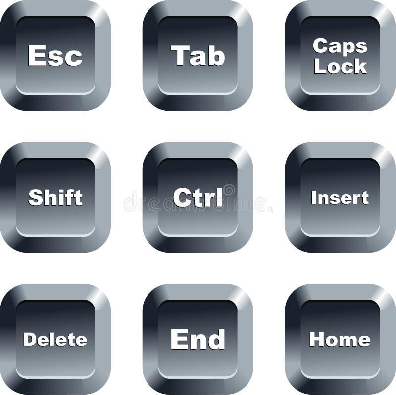 Botones del teclado stock de ilustración