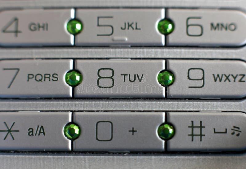 Botones del teléfono celular imágenes de archivo libres de regalías