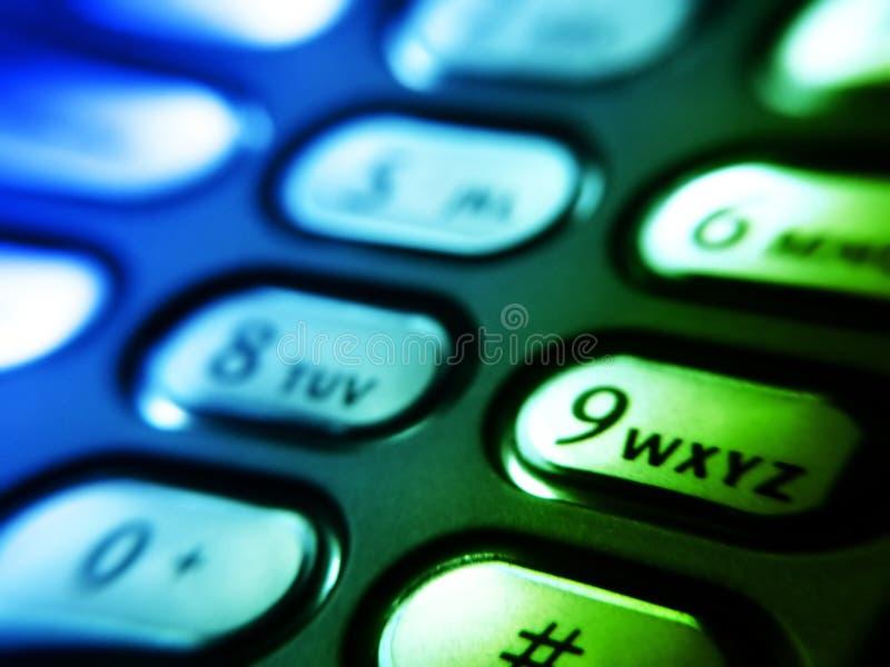 Botones del teléfono móvil foto de archivo libre de regalías