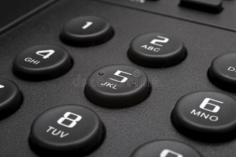 Botones del teléfono negro fotografía de archivo libre de regalías