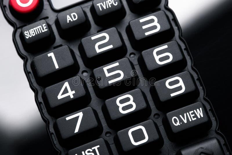 Botones del telecontrol de la TV fotos de archivo