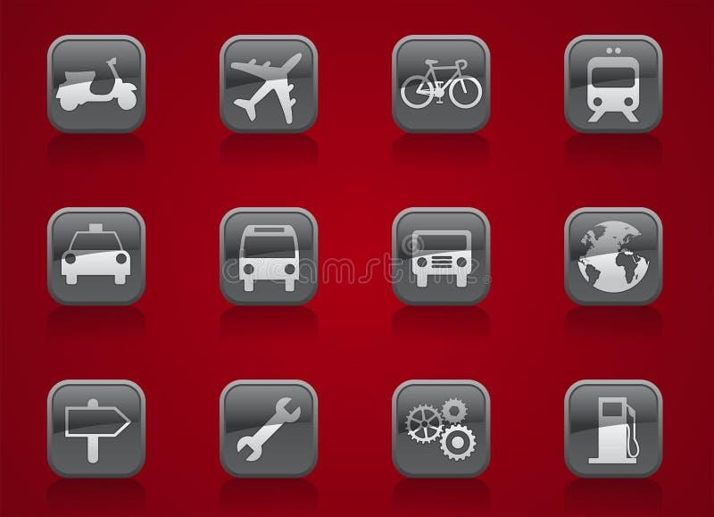 Botones del transporte stock de ilustración