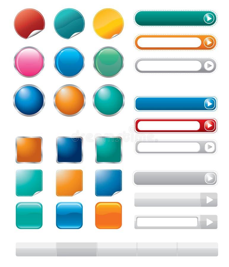 Botones del vector para el Internet libre illustration