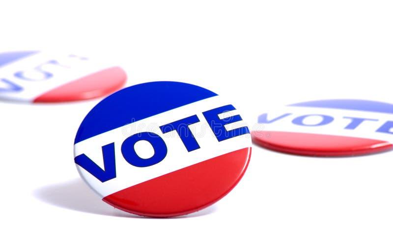 Botones del voto fotos de archivo libres de regalías
