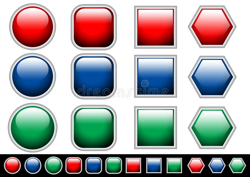 Botones del Web libre illustration