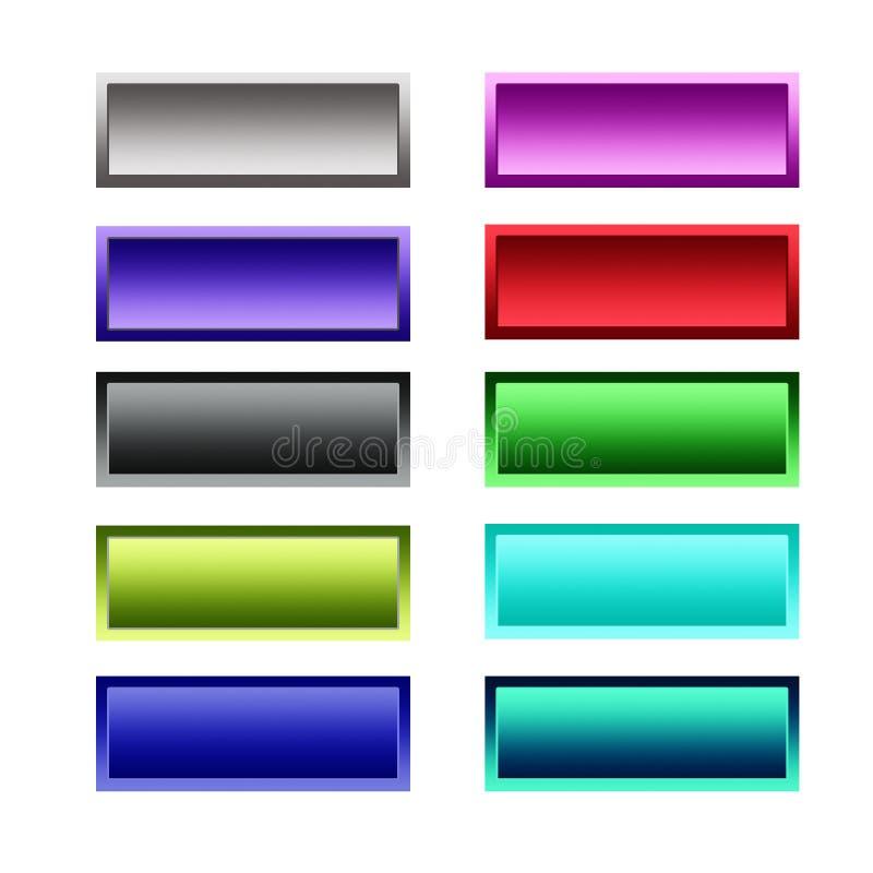 Botones determinados del gradiente stock de ilustración