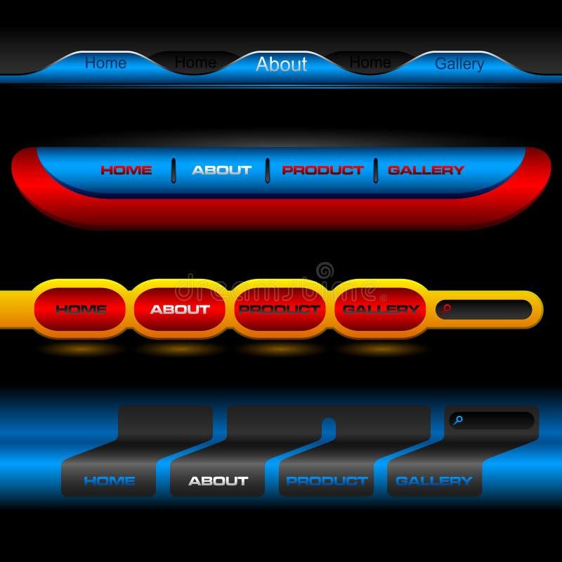 Botones Editable del vector del Web site libre illustration