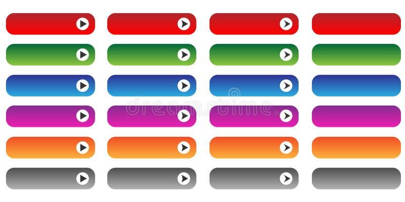 Botones en blanco de la tela fijados libre illustration