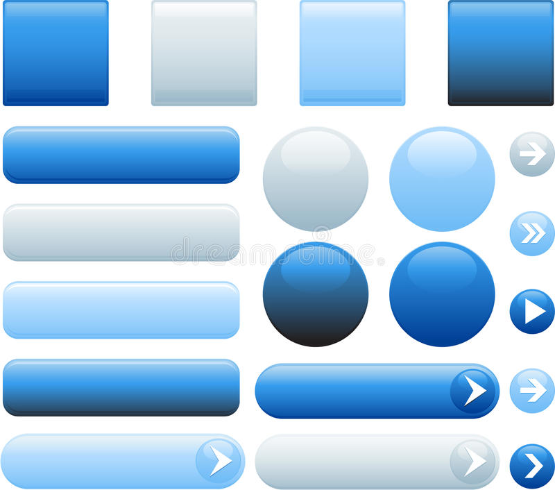 Botones en blanco del Web libre illustration