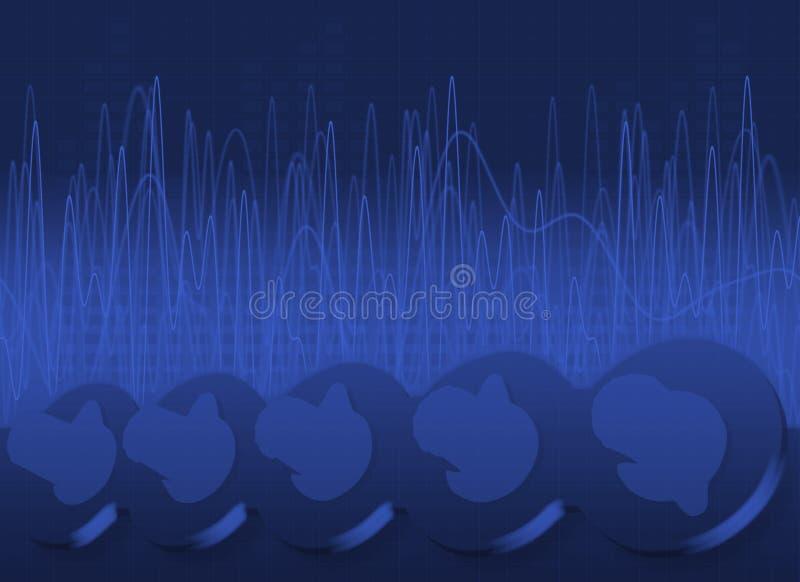 Botones, ondas y fondo del LED libre illustration