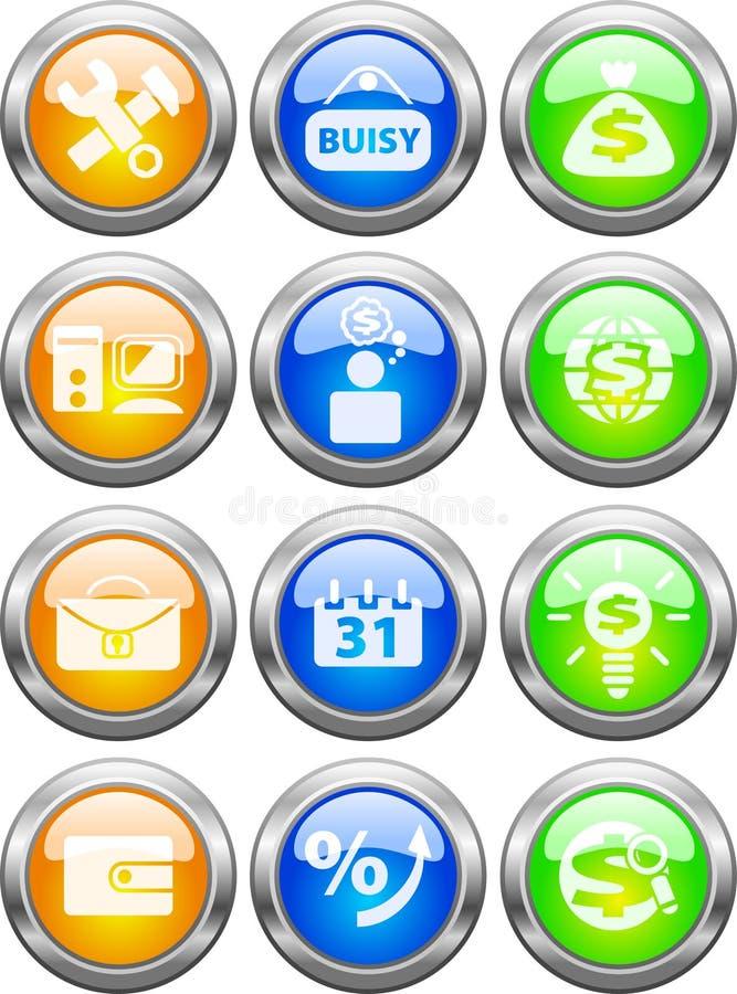 Botones para el Web ilustración del vector