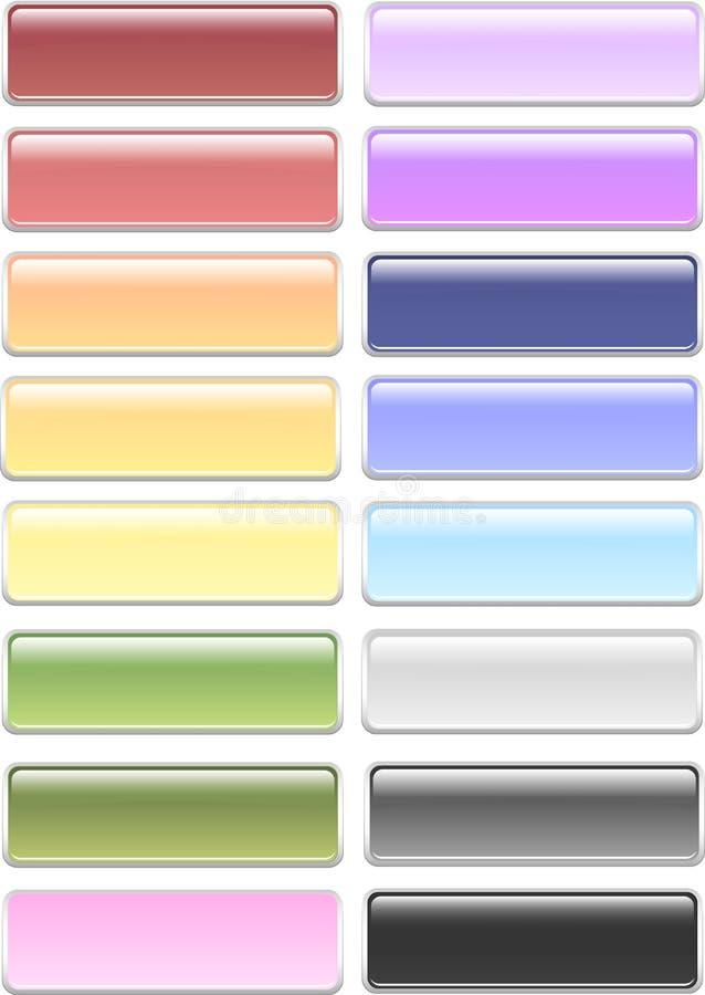 Botones redondeados en colores pastel del rectángulo foto de archivo libre de regalías