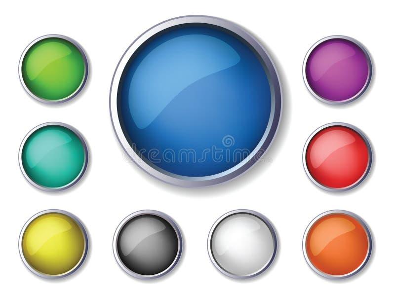 Botones redondos ilustración del vector