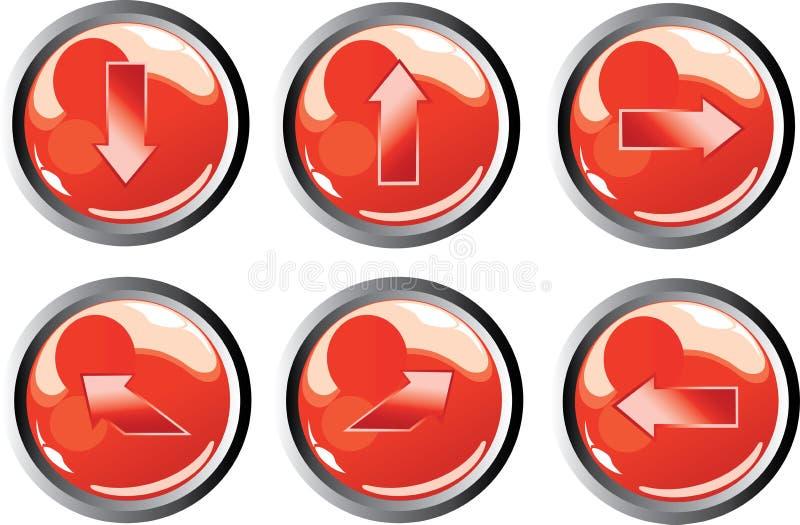 Botones rojos de la flecha