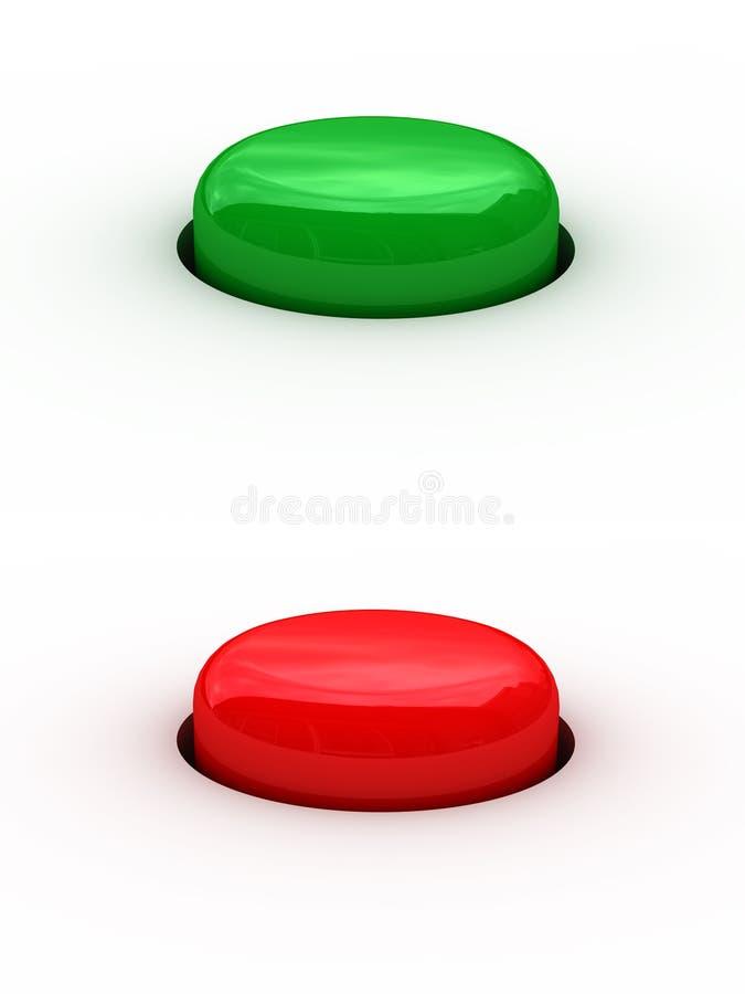 Botones rojos y verdes libre illustration