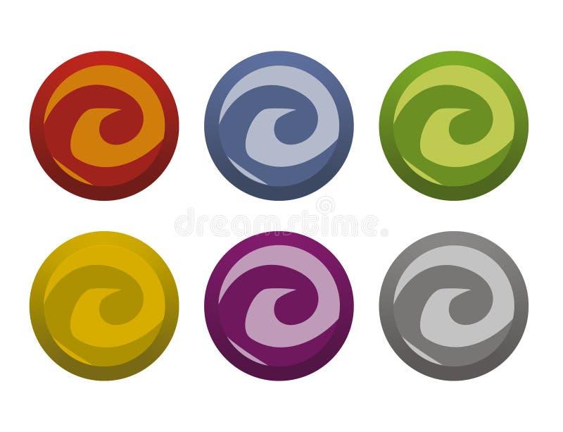 Botones torcidos libre illustration