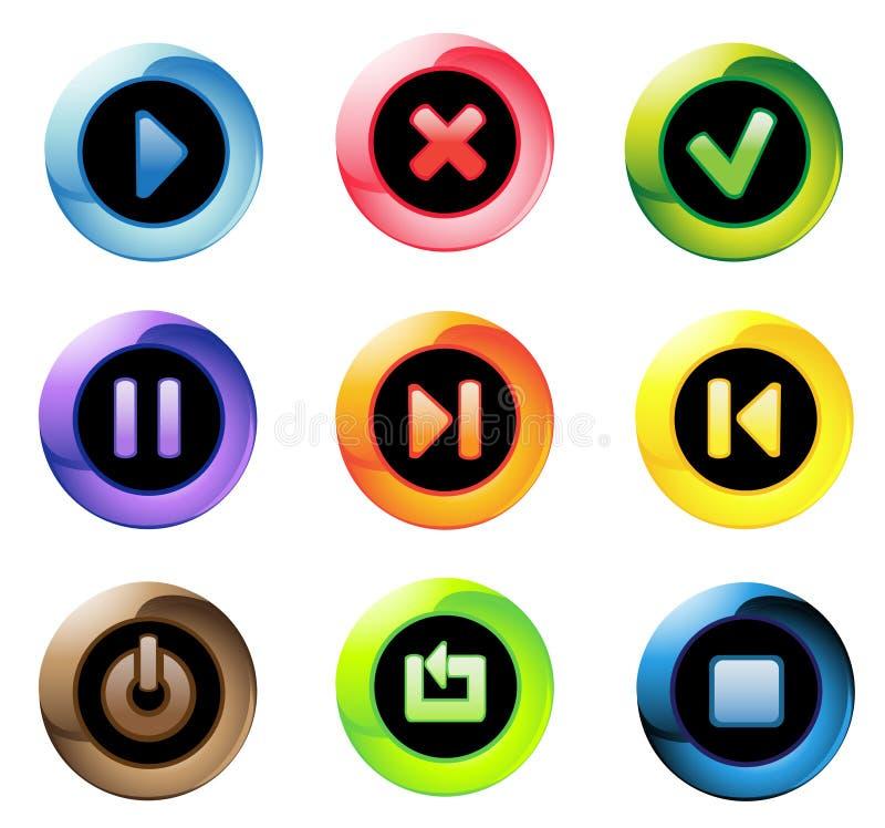 Botones transparentes stock de ilustración