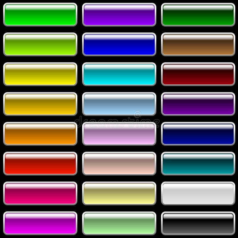 Botones varicolored rectangulares brillantes libre illustration