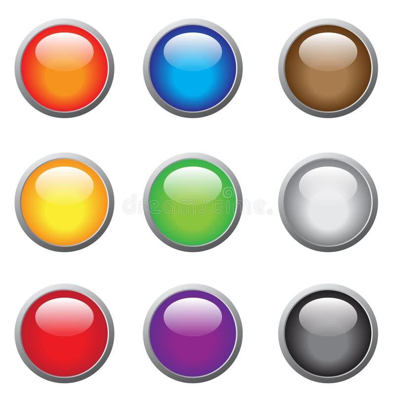 Botones vidriosos stock de ilustración