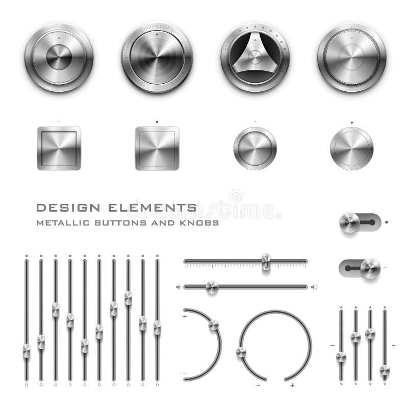 Botones y botones ilustración del vector
