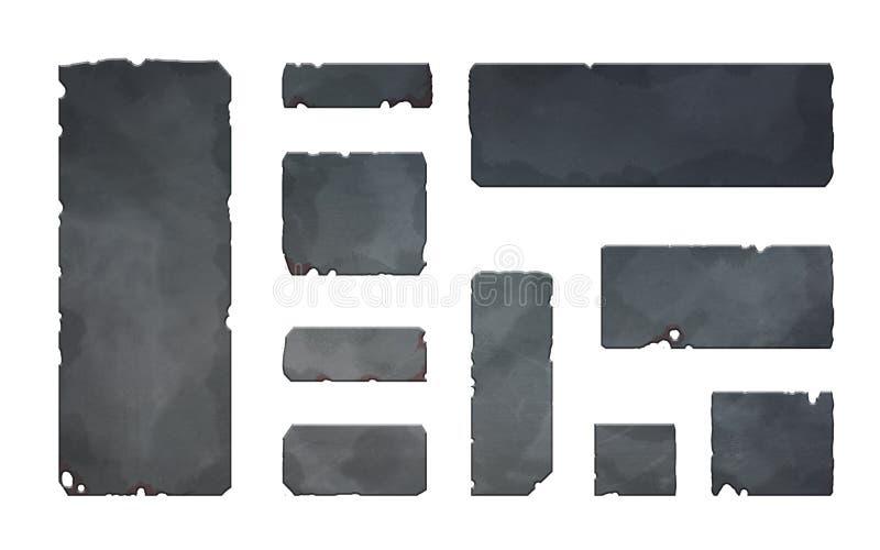 Botones y elementos realistas del metal libre illustration