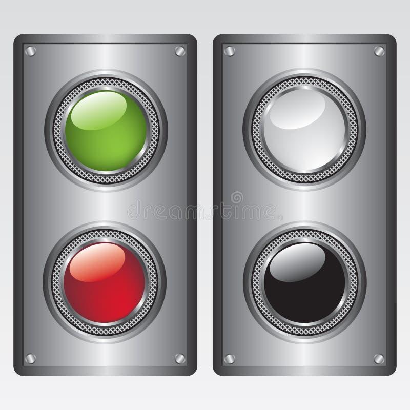 Botones y plateado de metal stock de ilustración