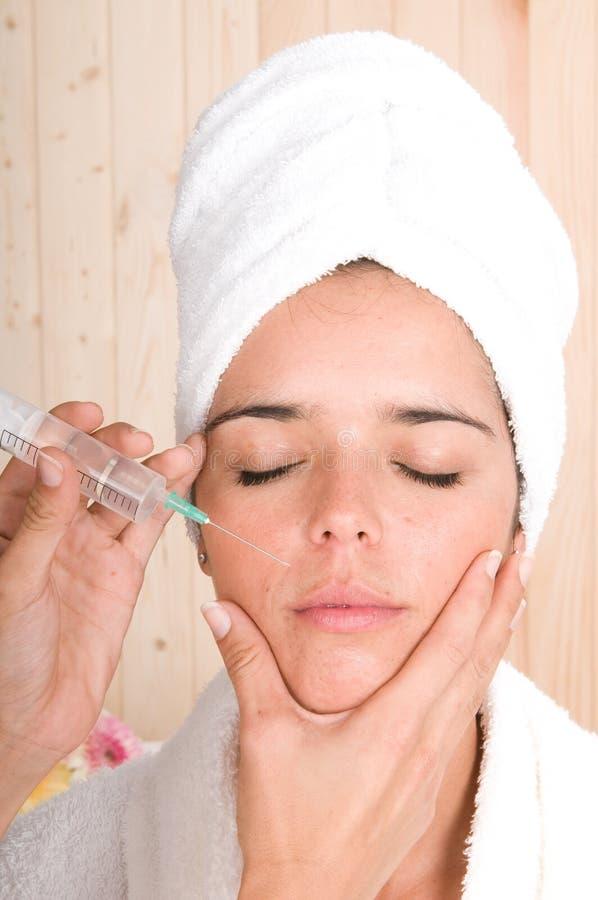 BOTOX® traktowanie kosmetyczny wtryskowy fotografia royalty free