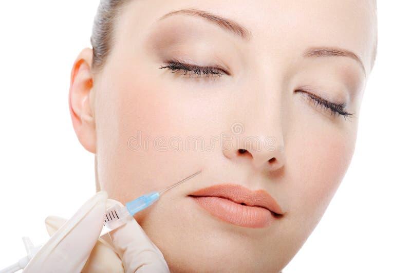 Botox disparou no mordente fêmea fotos de stock royalty free