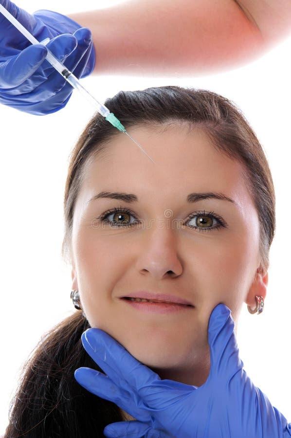 Botox-Einspritzung lizenzfreie stockfotos