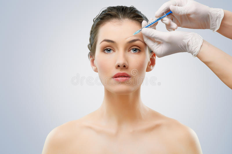 Botox injection stock image