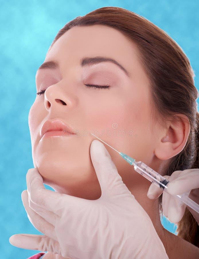 Botox injection stock photos