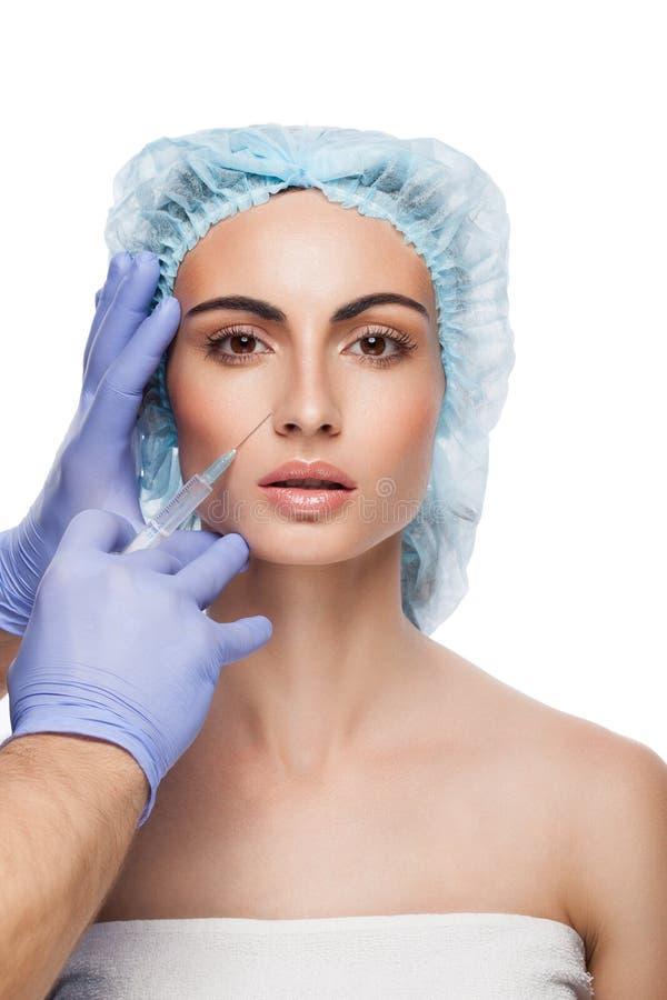 Botox injektion arkivbilder