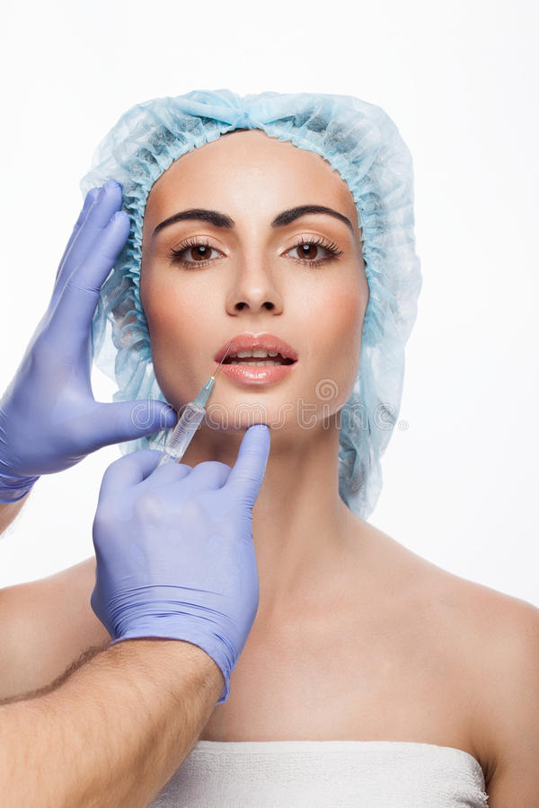 Botox injektion royaltyfria foton