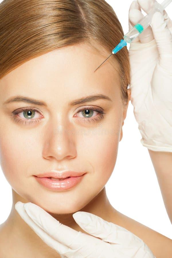 Botox kosmetyczny zastrzyk zdjęcia stock