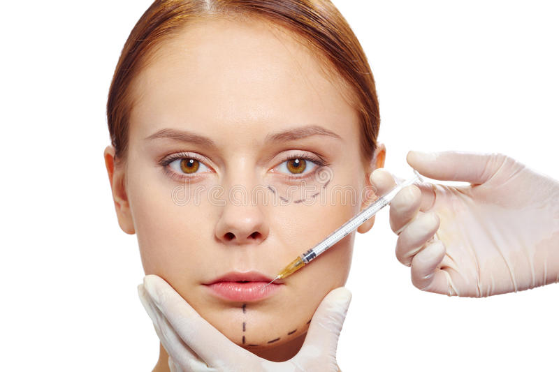 Botox therapy royalty free stock images