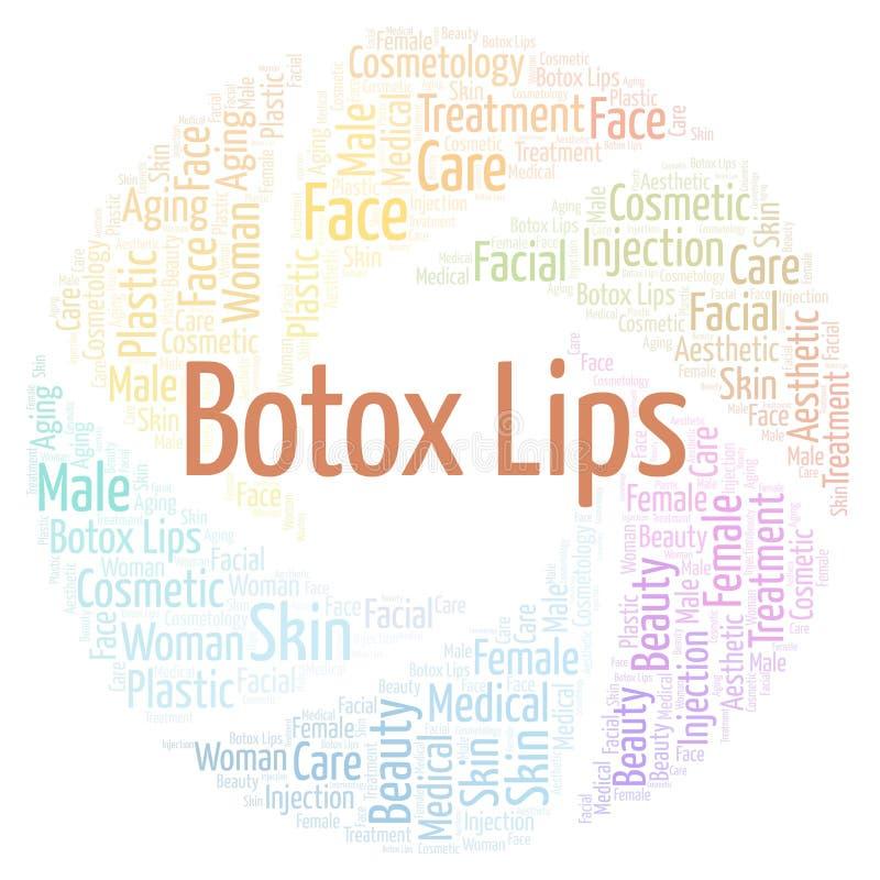 Botox warg słowa chmura ilustracja wektor