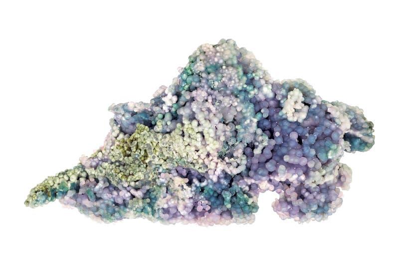 Purple Chalcedony over white stock photos