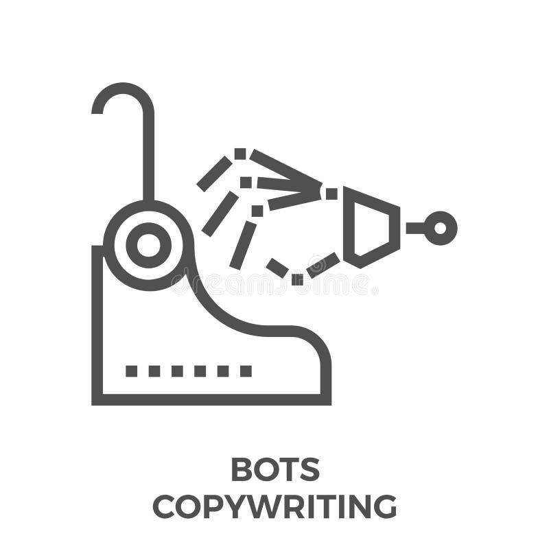 Bots che copywriting icona illustrazione di stock