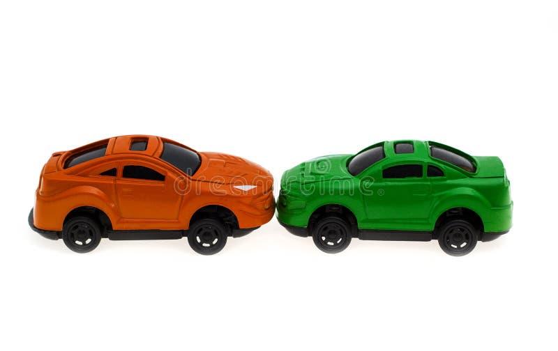 Botsing van twee auto's stock fotografie