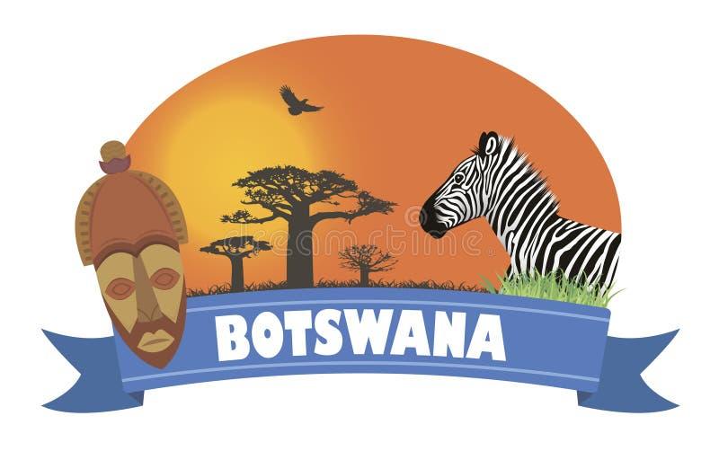 botswana illustrazione vettoriale