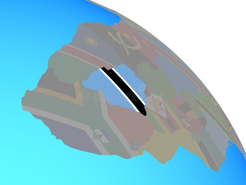 Botswana con la bandera en el globo libre illustration