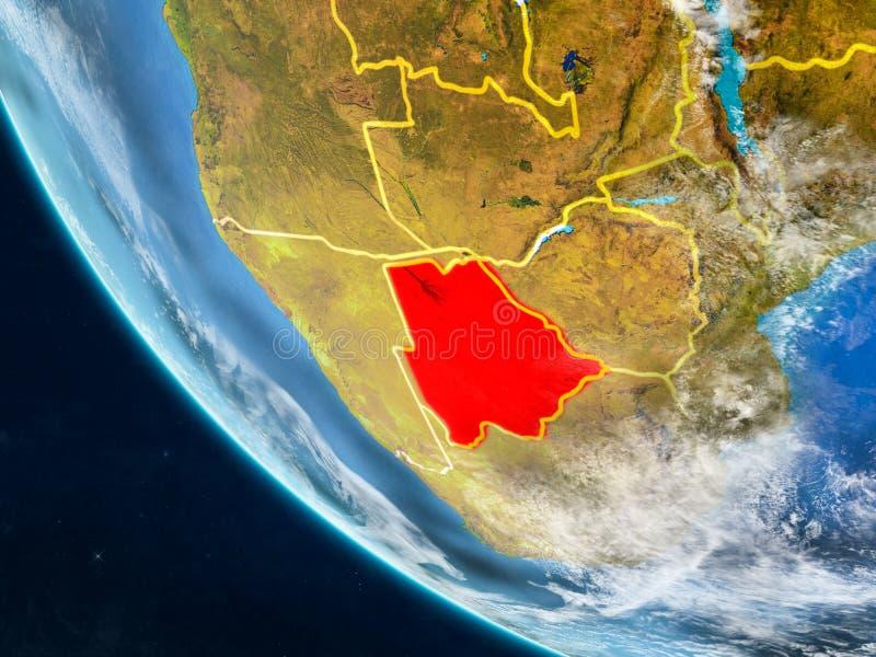 Botswana del espacio en la tierra libre illustration