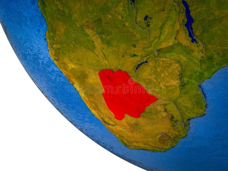 Botswana en la tierra 3D ilustración del vector