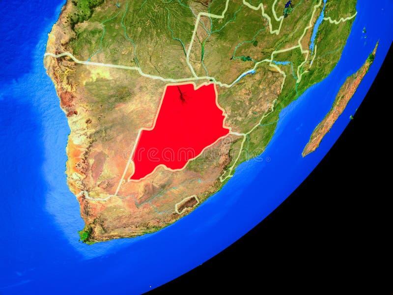 Botswana en la tierra del espacio ilustración del vector