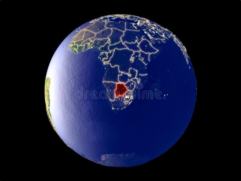 Botswana en la tierra del espacio libre illustration