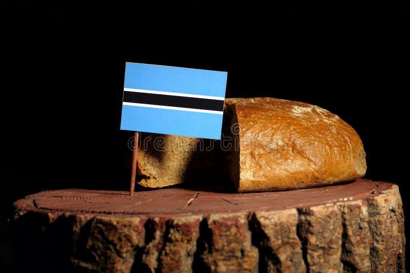 Download Botswana-Flagge Auf Einem Stumpf Mit Brot Stockfoto - Bild von essen, organisch: 96935374