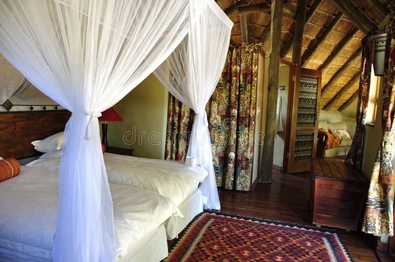Botswana: Luksusowa safari stróżówka w łudzenie dolinie w Kalahari pustyni fotografia royalty free