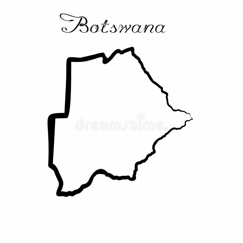 Botswana mapa royalty ilustracja