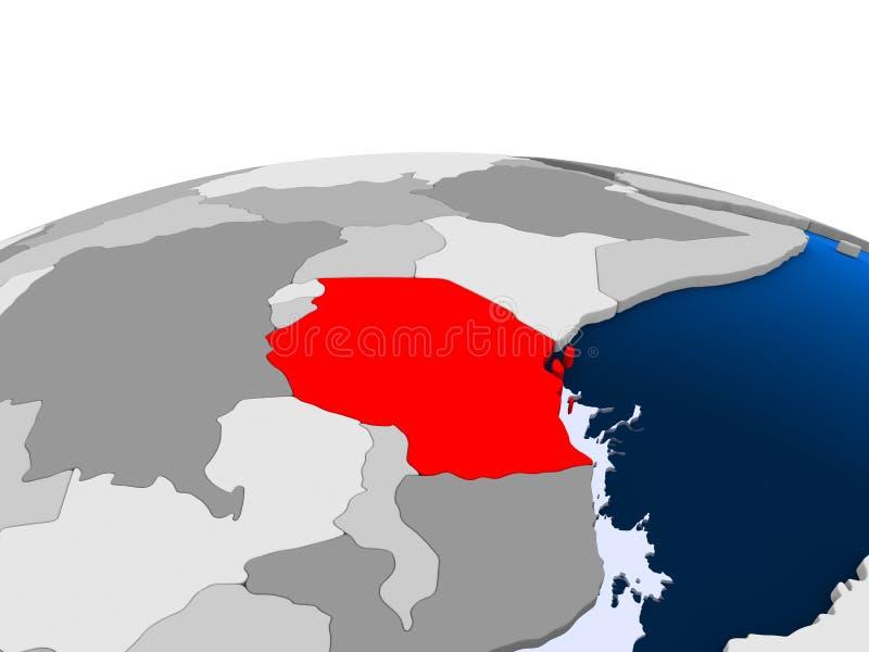 Botswana na politycznej kuli ziemskiej royalty ilustracja